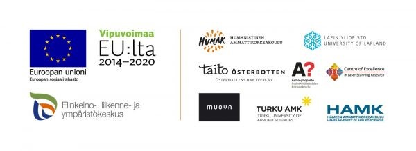 Creven virtuaalisten yrityspalveluiden rahoittajien ja järjestävien organisaatioiden logot.