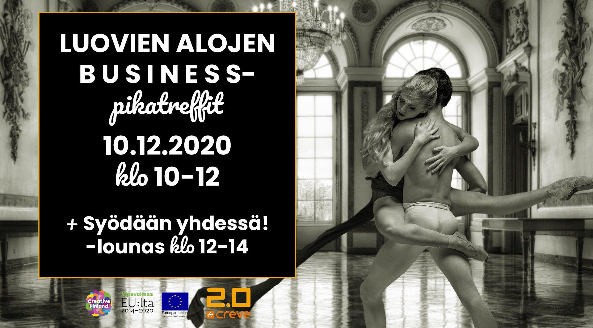 Kuvituskuva: Business-pikatreffit ja lounas 10.12.2020 klo 10-14