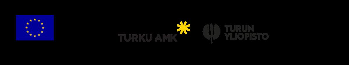 Innotutka-hankkeen toteuttajien logot: Euroopan aluekehitysrahasto, Vipuvoimaa EU:sta, Turun AMK, Turun yliopisto, Humak